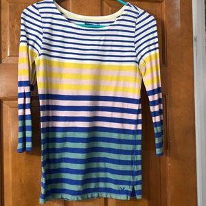 Stripped Quarter Length Shirt